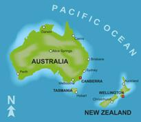 AUS NZ map