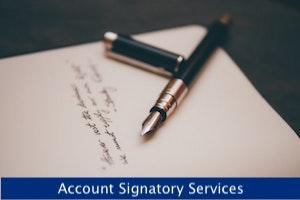 Account Signatory Services