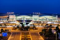 Larnaca International Airport night Republic of Cyprus