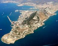 Gibraltar aerial view looking northwest