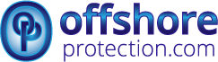 Offshore protection company formation logo blue