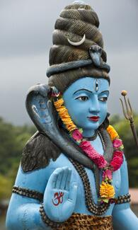 Shiva in hindu temple-Grand Basin-Mauritius S