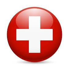Swiss offshore bank flag